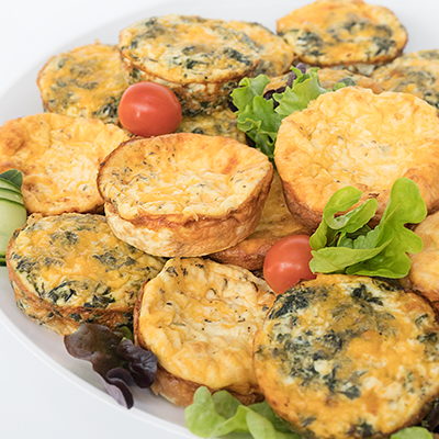 Adult catering at kids parties - Frittata Platter