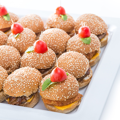 Adult catering at kids parties - Mini Burger Platter