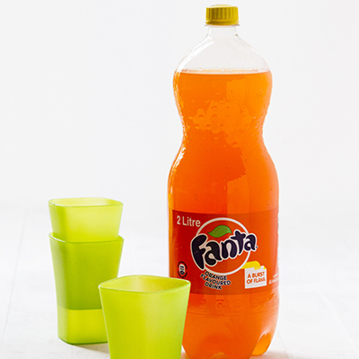 Adult catering at kids parties - 2L Fanta Orange