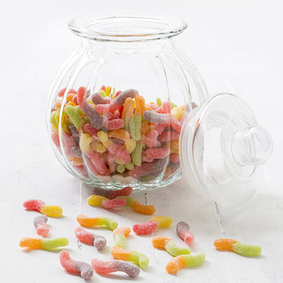 Kids Parties - Sour Worm Jar