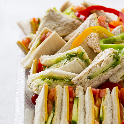 Adult catering at kids parties - Sandwich Platter