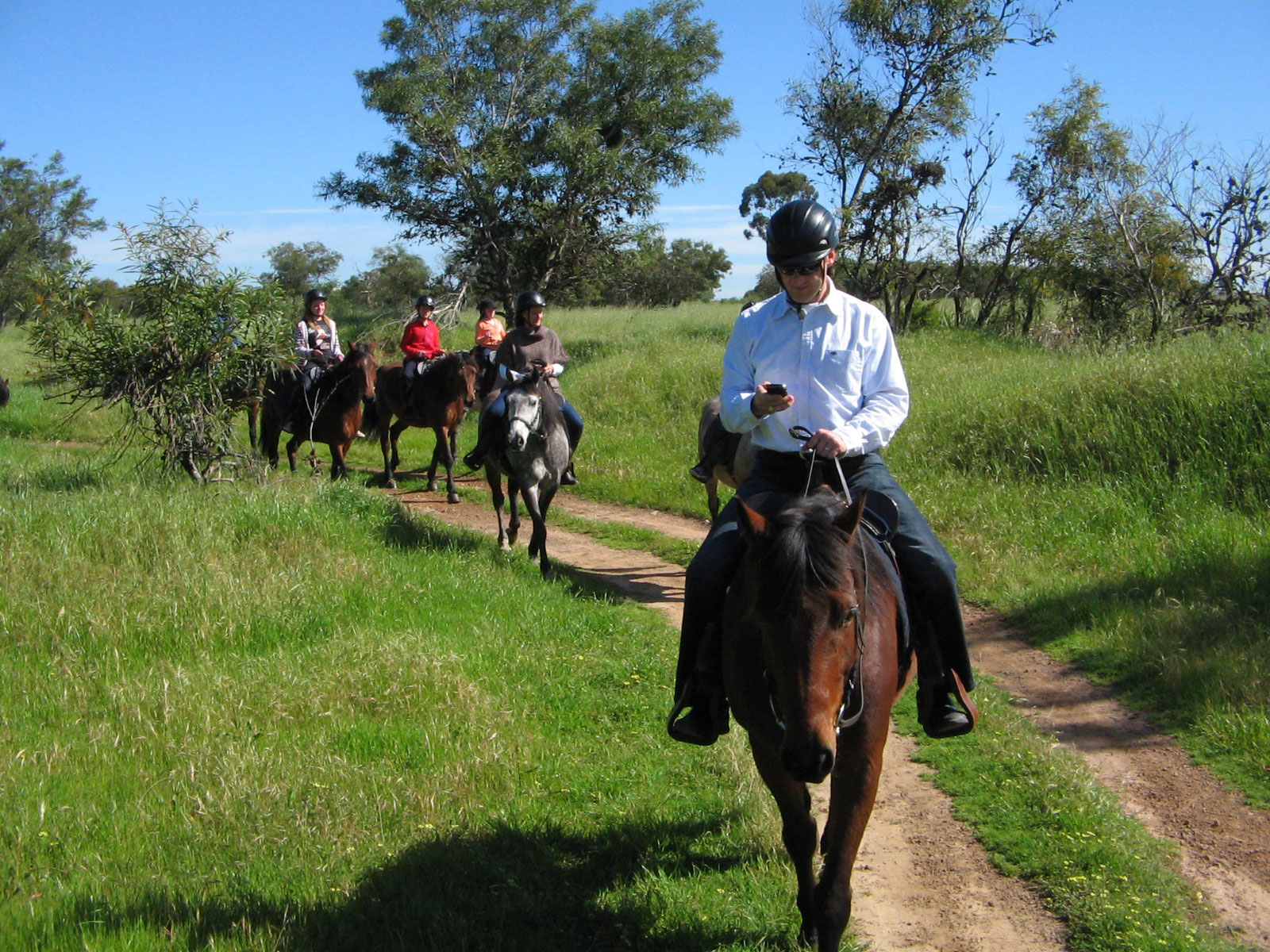 Horseback riding keeps kids active.