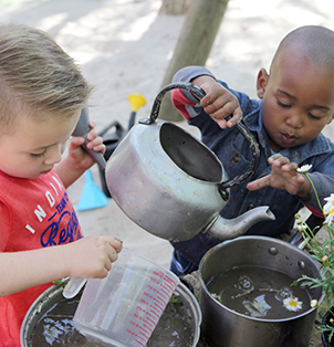 Fun in the mud works fine motor skills, imagination and makes for an all-round super fun sensory experience.