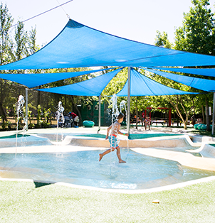 The Splash Pool gives little kids a full body experience.