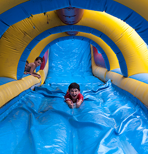 Water Slide - Rides at Bugz Family Playpark