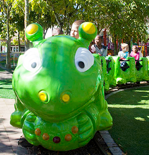 Worm Train - Rides at Bugz Family Playpark