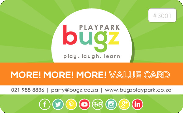 FREE GIFT  with your Bugz birthday party