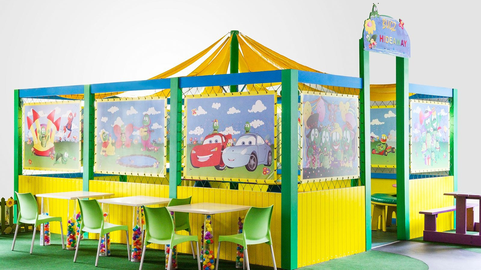 Kids party venues at Bugz Family Plapark.