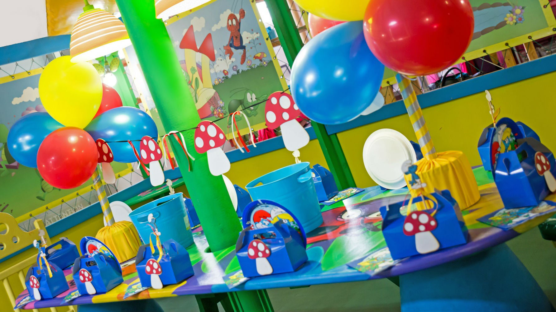 Smurfs Party Setup